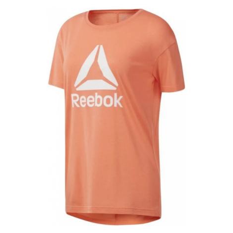 Reebok WORKOUT READY 2.0 BIG LOGO TEE orange - Women's T-shirt