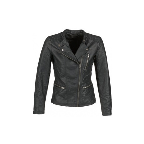 Only FREYA women's Leather jacket in Black