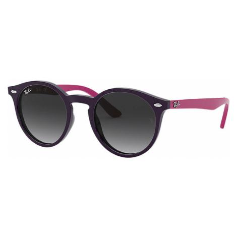 Ray-Ban Rj9064s Unisex Sunglasses Lenses: Gray, Frame: Violet - RJ9064S 70218G 44-19
