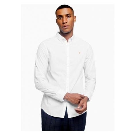 Mens Farah White Farley Slim Shirt*, White