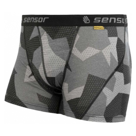 Sensor MERINO IMPRESS black - Men's shorts
