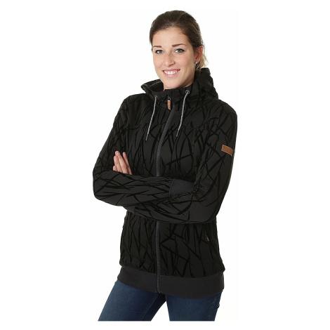 sweatshirt Roxy Frost Printed Zip - KVJ2/True Black/On The Grass Flocka