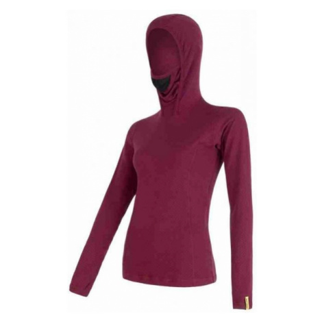 Sensor MERINO DF LILLIA red wine - Women's T-shirt