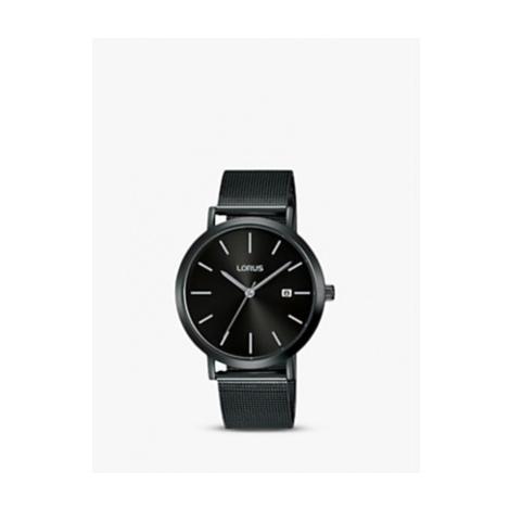 Lorus Men's Date Mesh Bracelet Strap Watch, Black RH943JX9