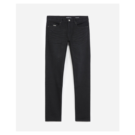 The Kooples - Black slim-fit jeans in cotton with raw edge - MEN
