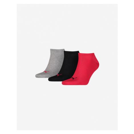 Puma Set of 3 pairs of socks Black Red Grey