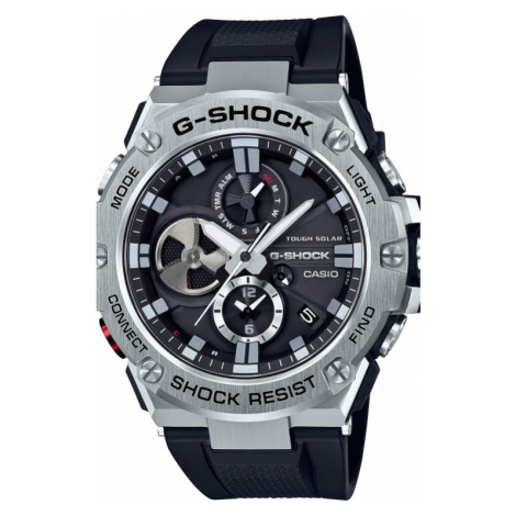 Mens Casio G-Steel Bluetooth Triple Connect Chronograph Radio Controlled Watch GST-B100-1AER