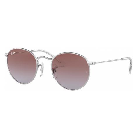 Ray-Ban Round metal junior Unisex Sunglasses Lenses: Violet, Frame: Silver - RJ9547S 212/I8 44-1