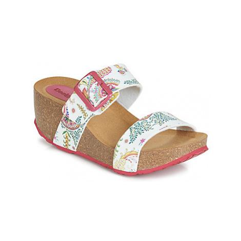 Desigual SHOES_BIO8_GALACTIC women's Mules / Casual Shoes in White