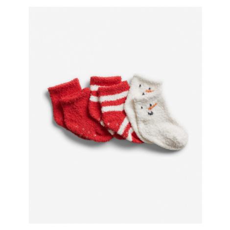 GAP Socks 3 pcs kids Red White