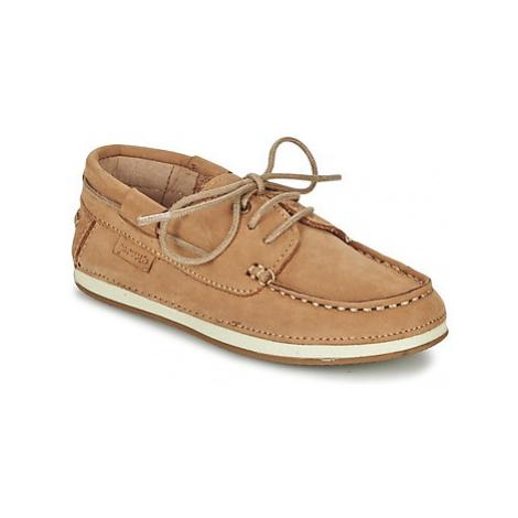 Garvalin NOBUCK boys's Children's Boat Shoes in Beige Garvalín