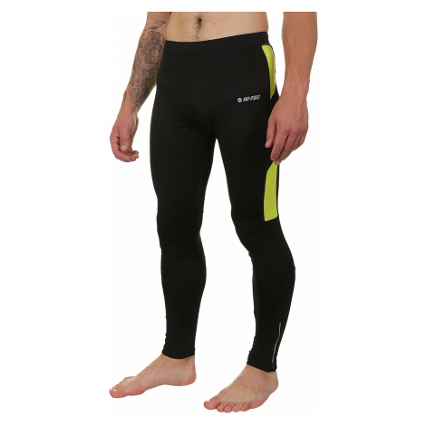 leggings Hi-Tec Runner - Black/Apple Green