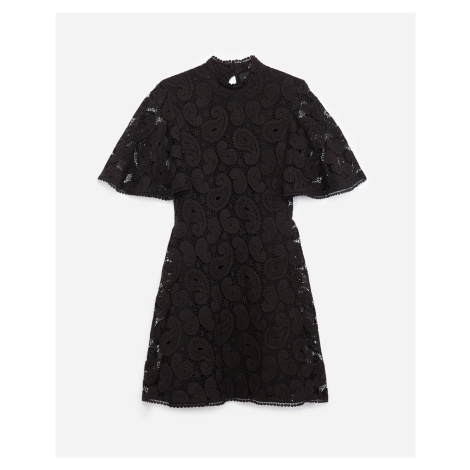 The Kooples - Short printed dress with lace frills - WOMEN