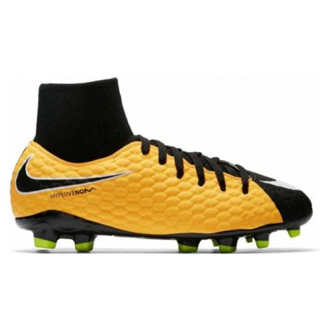 Nike HYPERVENOM PHELON FG DF JR yellow - Kids' football boots