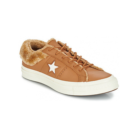 Converse ONE STAR LEATHER OX women's Shoes (Trainers) in Brown
