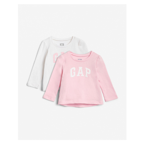 GAP Kids T-shirt 2 Piece Pink White