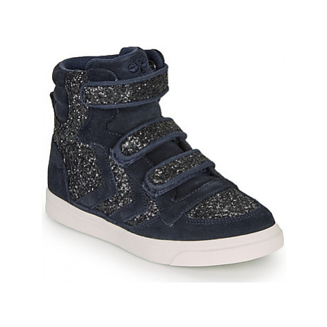 Hummel STADIL GLITTER JR girls's Children's Shoes (High-top Trainers) in Black