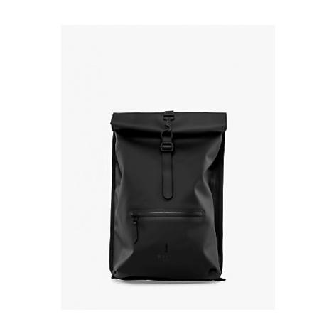 Rains Rolltop Water Resistant Backpack, Black