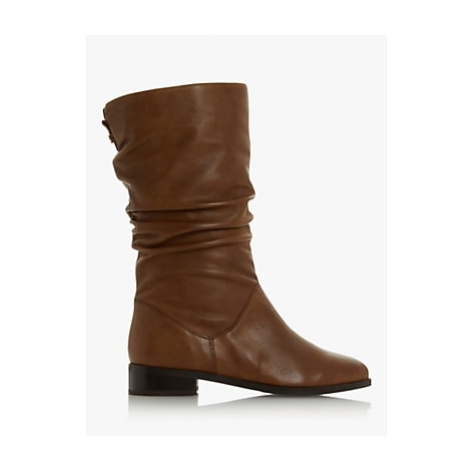 Dune Rosalinda Leather Calf Boots, Tan