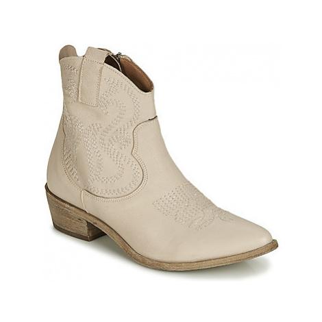 Mimmu 374Z8 women's Low Ankle Boots in Beige