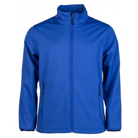 Blue men's softshell jackets
