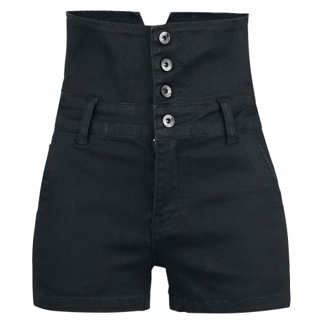 Forplay - High Waist Denim Hot Pants - Girls hotpants - black