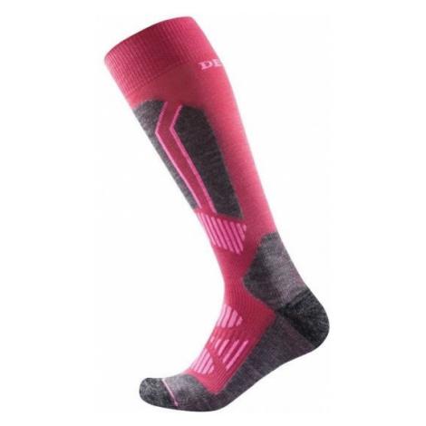 Devold ALPINE KID SOCK pink - Sports knee socks