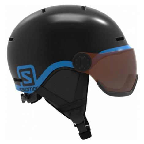 Salomon GROM VISOR black - Kids' ski helmet