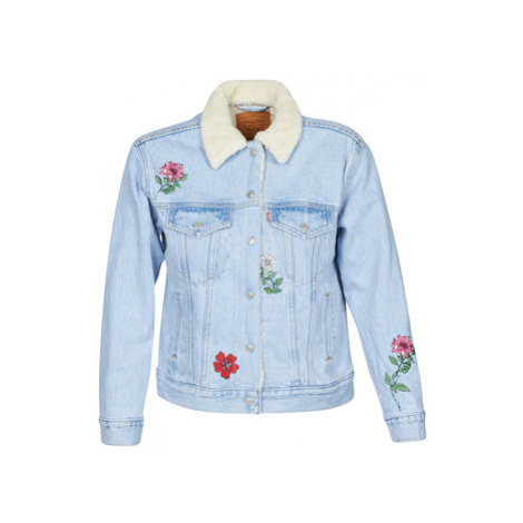 Levis EX-BF SHERPA TRUCKER women's Denim jacket in Blue Levi´s