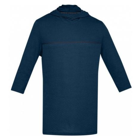 Under Armour SIPHON 3/4 SLEEVE HOODIE blue - Men's T-shirt