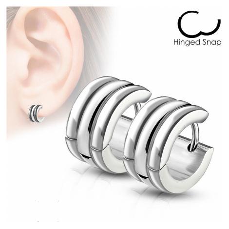 earrings Body Art SE7088 - ST/Hoop/Steel