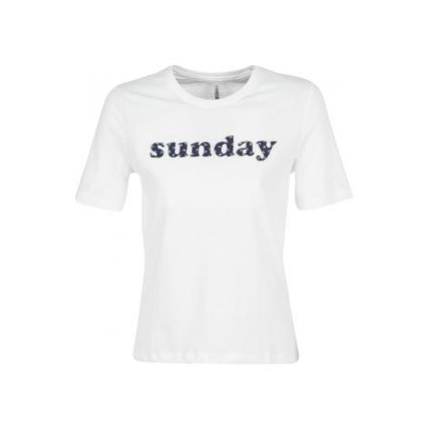 Only ONLSANNE women's T shirt in White