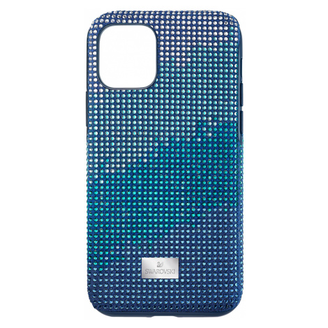 Crystalgram Smartphone Case with Bumper, iPhone® 11 Pro, Blue Swarovski