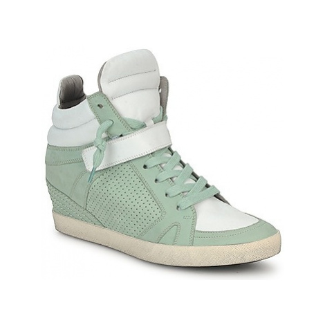 Kennel + Schmenger SOHO BRIGHT women's Shoes (High-top Trainers) in Green Kennel & Schmenger