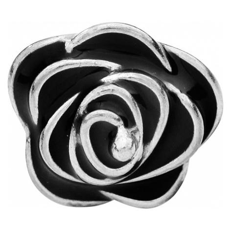 Black Rose - - Earpin set - silver-black