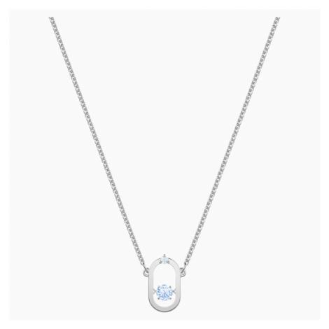 Sparkling Dance Necklace, Blue, Rhodium plated Swarovski