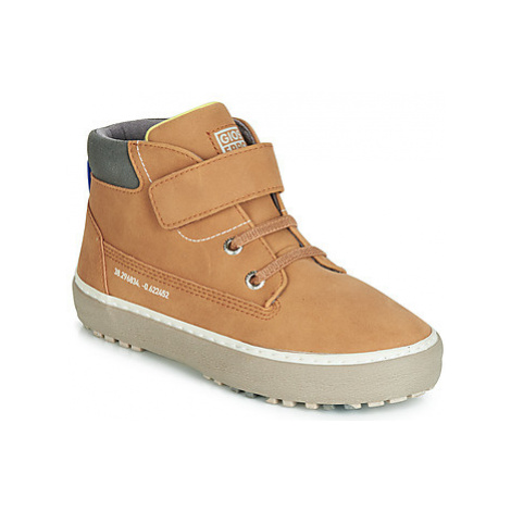 Gioseppo LUCKA boys's Children's Shoes (High-top Trainers) in Brown