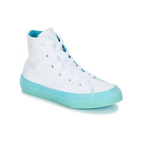Converse Chuck Taylor All Star-Hi girls's Children's Shoes (High-top Trainers) in White