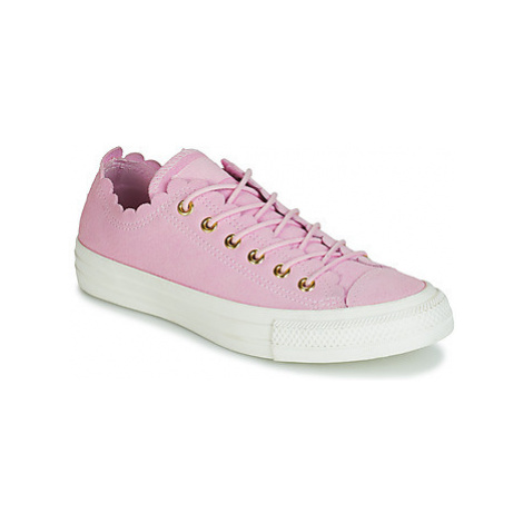 Converse CHUCK TAYLOR ALL STAR FRILLY THRILLS SUEDE OX women's Shoes (Trainers) in Pink