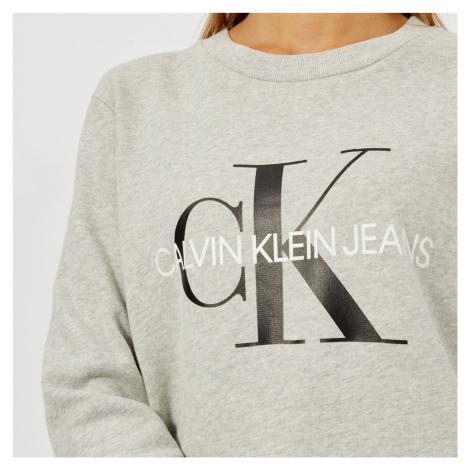Calvin Klein Jeans Women's Core Monogram Logo Sweatshirt - Light Grey Marl