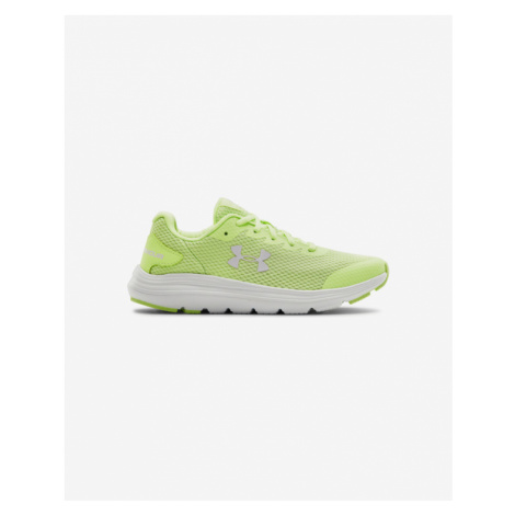 Under Armour Grade School UA Surge 2 Running Kids Sneakers Green Yellow