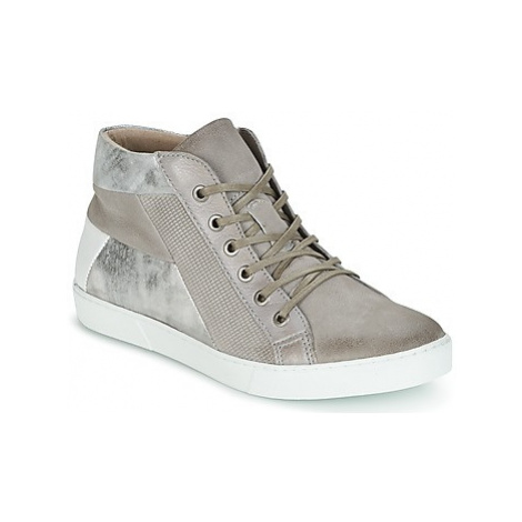 Dream in Green IRAMALI women's Shoes (High-top Trainers) in Silver