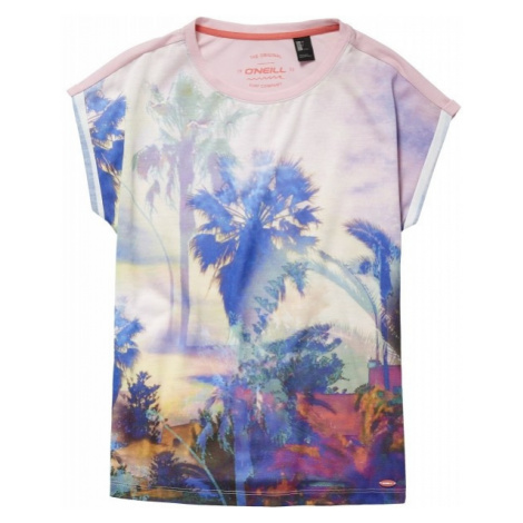 O'Neill LG FOTOPRINT S/SLV T-SHIRT pink - Girls' T-shirt