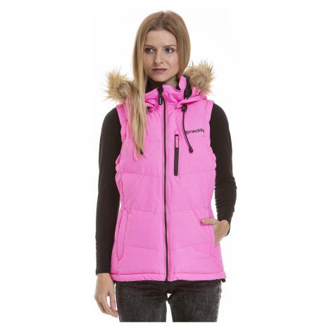 vest Meatfly Fuzzy 2 - B/Safety Pink - women´s