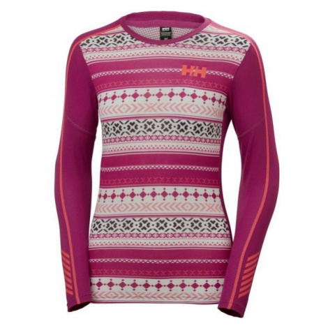 Helly Hansen LIFA ACTIVE GRAPHIC CREW pink - Women's long-sleeved T-shirt