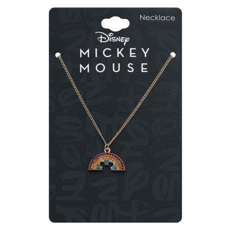 Mickey Mouse - Rainbow - Necklace - gold-coloured