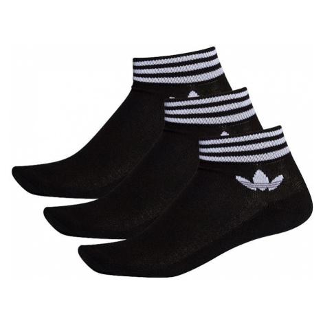 socks adidas Originals Trefoil Ankle HC 3 Pack - Black/White