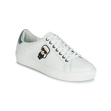 Karl Lagerfeld KUPSOLE Karl Ikonik Lo Lace women's Shoes (Trainers) in White
