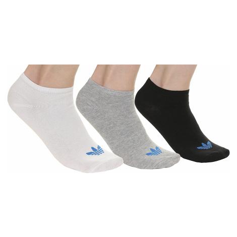 socks adidas Originals Trefoil Liner 3 Pack - White/Black/Medium Gray Heather