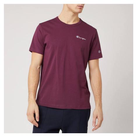 Champion Men's Back Script Crew Neck T-Shirt - Burgundy